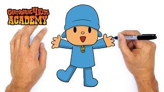 How to Draw Pocoyo- Art for Beginners
