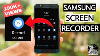 Samsung Screen Recorder !! How to install Samsung Screen Recorder !! For all Samsung Phones !!