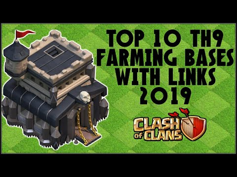TOP 10 TH9 FARMING BASE WITH LINKS 2019!! - CLASH OF CLANS