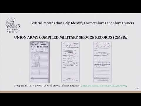 2018 Genealogy Fair Session 2- Federal Records That Help Identify Former Slaves And Slave Owners