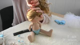 Handmade interior doll's Ballerina presentation