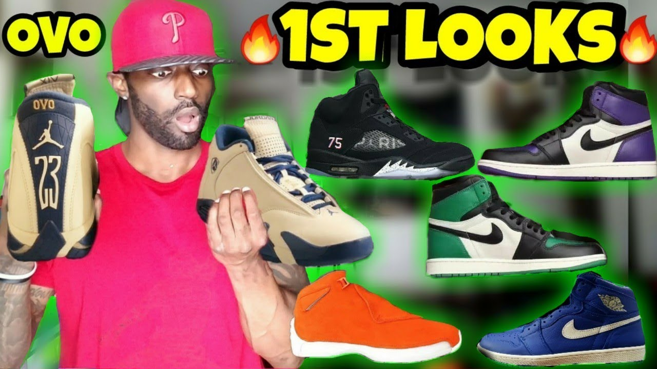 info for ab508 c0f3f ... authentic 1st looks jordan 14 ovo is trash jordan 1 pine green jordan 1  court purple