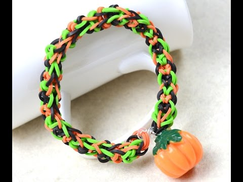 Make Cool Rubber Band Bracelets With Pumpkin Beads For