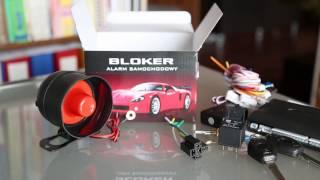 Alarm Samochodowy Bloker unboxing