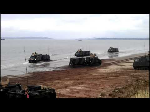 Operation 'Joint Warrior' deploys on Angus beach