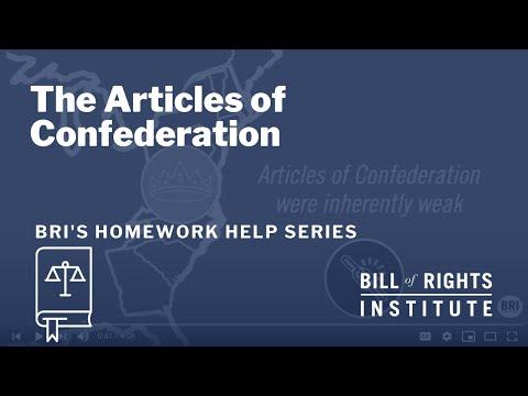 The Articles of Confederation   BRI Homework Help