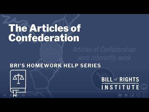 The Articles of Confederation | BRI Homework Help