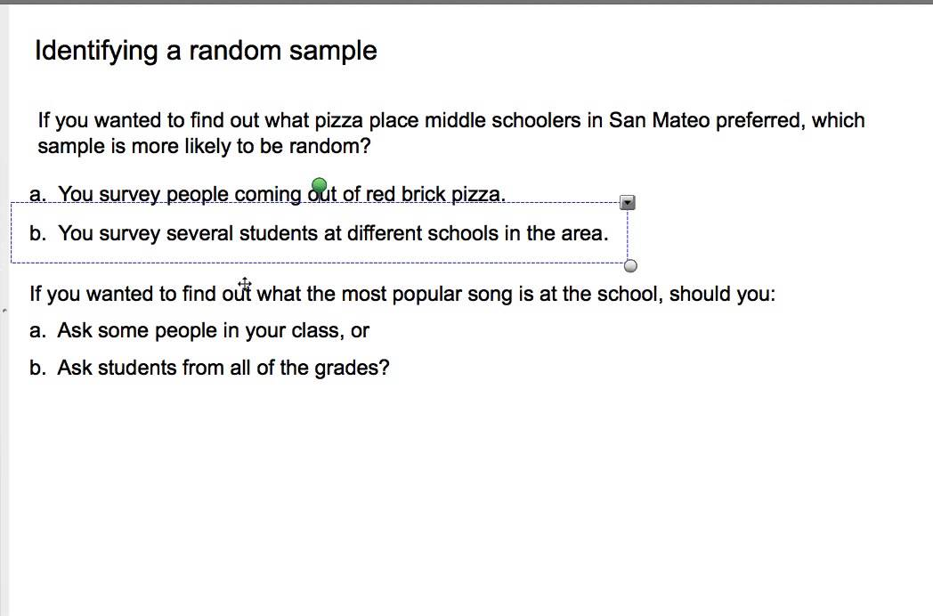 7th grade 8 1 random samples and surveys mp4 youtube