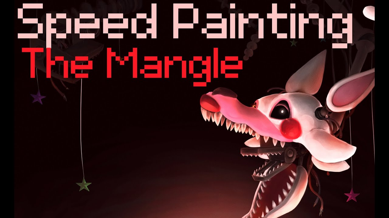 The mangle fnaf 2 speed painting fanart friday youtube