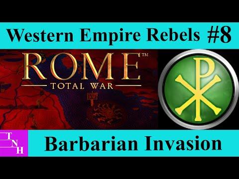 Western Empire Rebels Campaign #8 The Battles of the Po Bridge - Barbarian Invasion