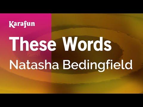 Karaoke These Words - Natasha Bedingfield *