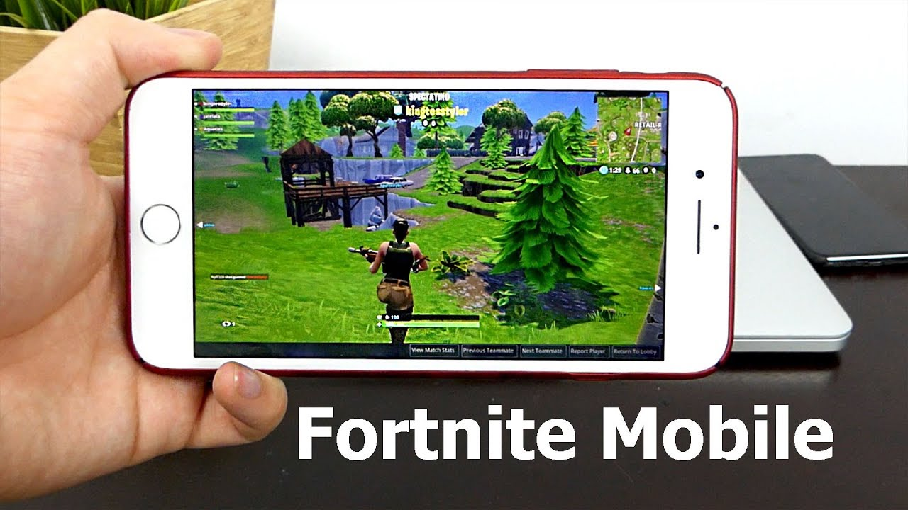 Fortnite Mobile Gameplay On Iphone 7 Invitation Graphics Performance Youtube