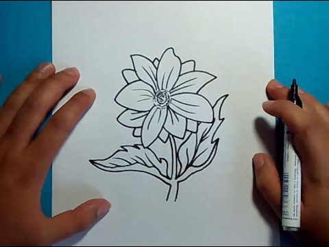 Como dibujar una flor paso a paso 13  How to draw a flower 13