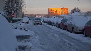 Après la neige, le verglas complique la circulation (8 février 2018, Vélizy-Villacoublay, France)