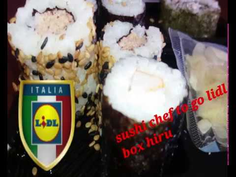 sushi chef to go LIDL ..BOX HIRU A 3,99 EURO BANCO FRIGO