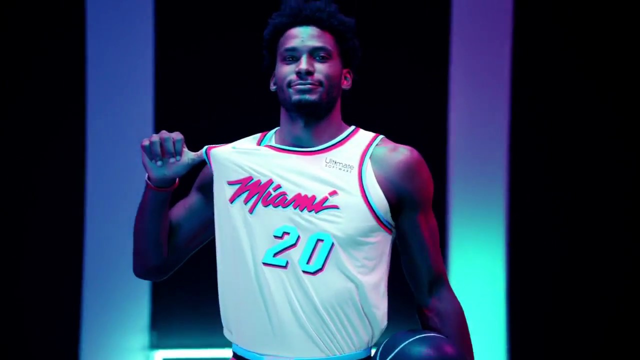 876efe5b5582 Miami Heat s New Nike City Jerseys 🔥 (Vice City Edition)  HEATVICE ...