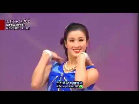Северная Корея.  Удивительный танец. С 2 минуты переодеваются на ходу.