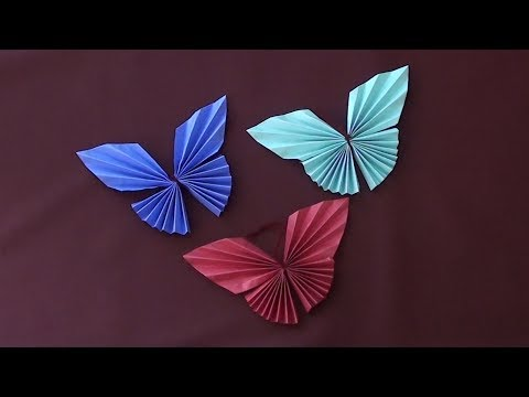Paper Butterfly Origami - Very Easy Paper Arts and Crafts for Kids and Everyone