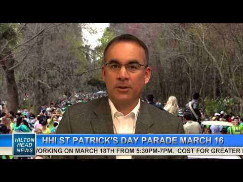HILTON HEAD NEWS | Frank Dunne Jr, St Patrick's Day Parade | 3-10-2014 | Only on WHHI-TV