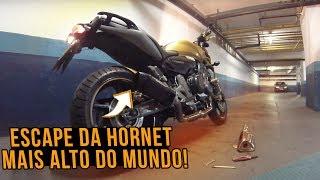 ESCAPAMENTO DA HORNET FICOU MUITO ALTO