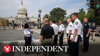 Watch again: U.S. Capitol Police brief media on 'Justice for J6' rally