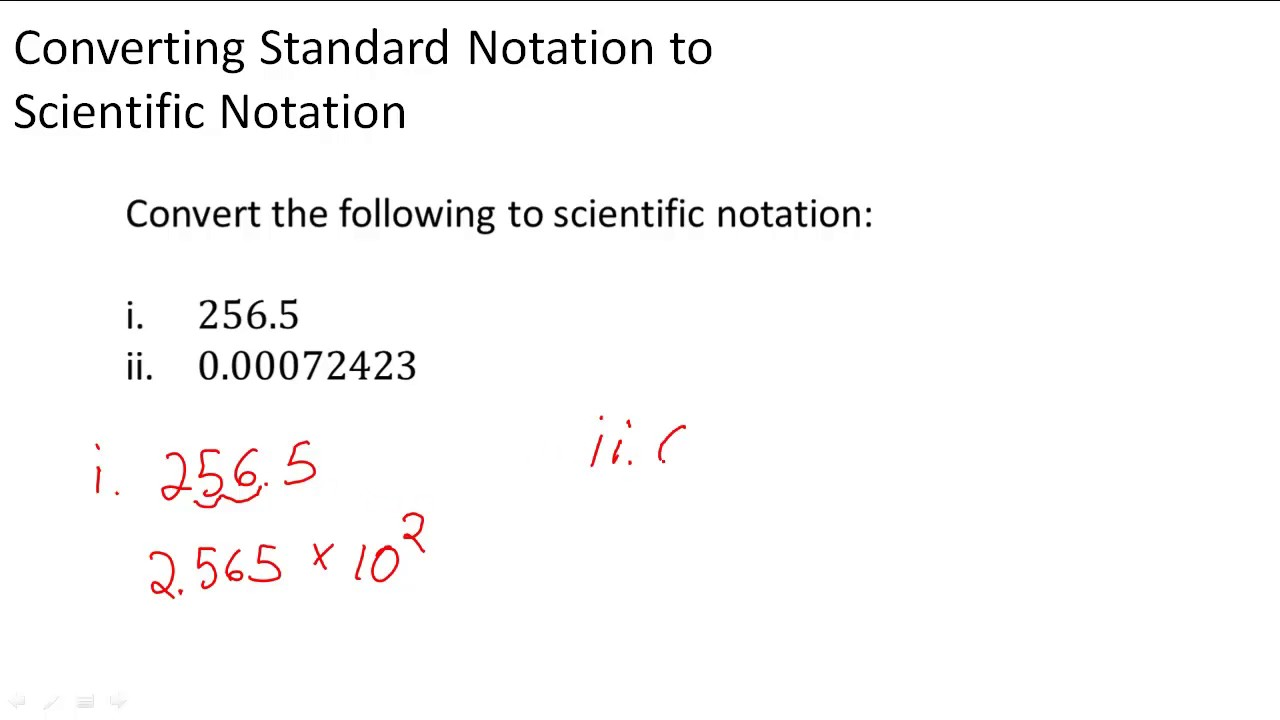 Converting standard notation to scientific notation youtube converting standard notation to scientific notation falaconquin