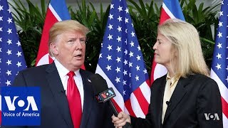 Trump Speaks to VOA's Greta