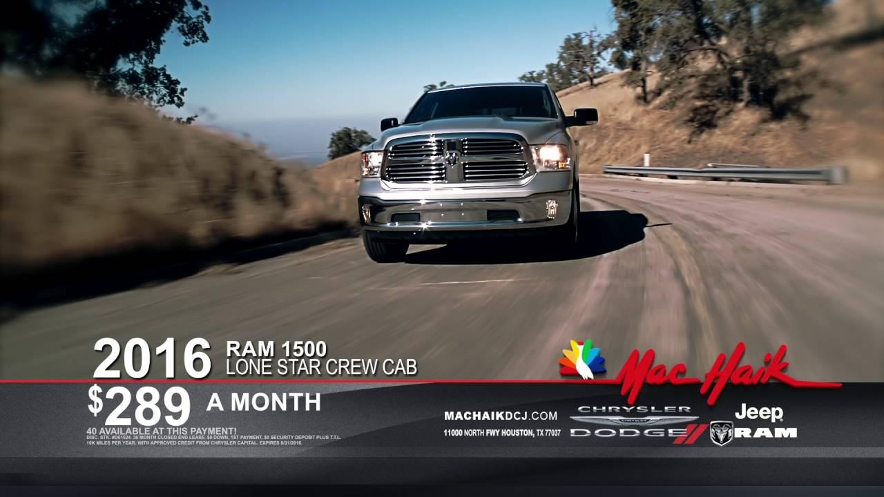 2016 RAM 1500 Houston - Mac Haik Dodge Chrysler Jeep Ram - YouTube