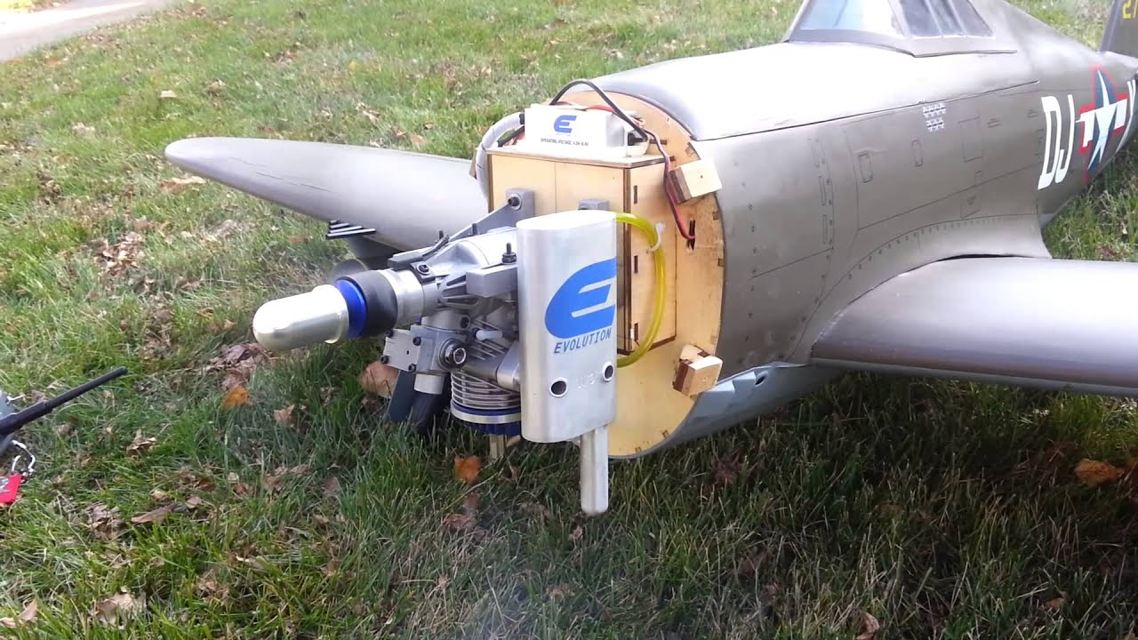 Evolution 20gx engine Hangar 9 P47 Razorback   YouTube Evolution 20gx engine Hangar 9 P47 Razorback
