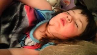 3 year old Gracelynn snoring.