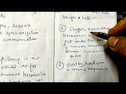Difference Between Asynchronous And Synchronous Transmission-lecture86/coa