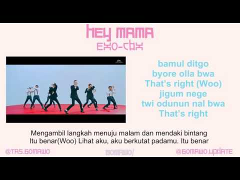 EXO CBX - HEY MAMA! [MV, EASY LYRIC, LIRIK INDONESIA]