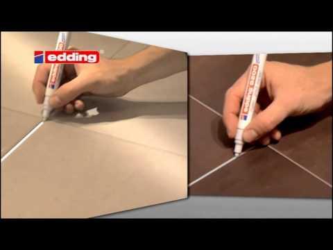 fugenmarker edding 8200 wei strichbreite 2 4mm wasserfest youtube. Black Bedroom Furniture Sets. Home Design Ideas