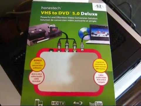 Demonstration of the Honestech VHS to DVD 5.0 Deluxe
