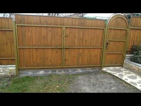 Ворота с калиткой своими руками ч 2 YouTube