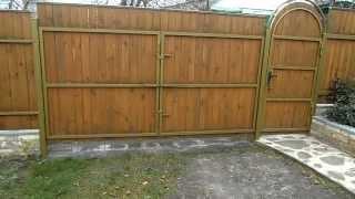 видео Ворота для дачи