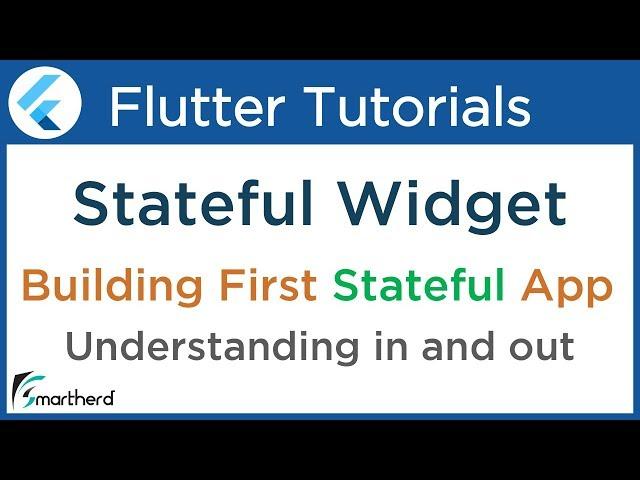 #3.3 Flutter Dart Tutorials: Building first Stateful widget App in Flutter