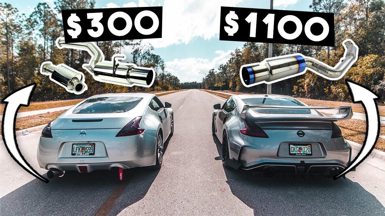 370z 350z cheap vs expensive 1100 exhaust whats better tomei ti vs isr single