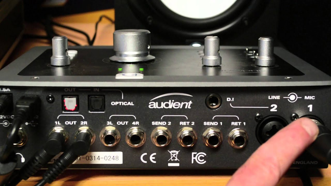Demonstration Audient Id22 High Performance Usb Audio