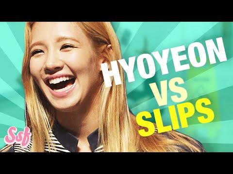 Hyoyeon VS Tongue Slips l @Soshified