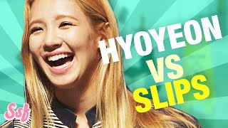 Hyoyeon VS Tongue Slips l @Soshified