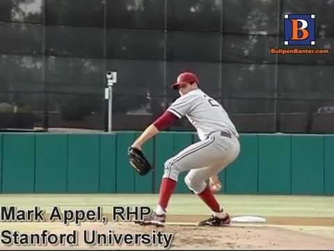 MARK APPEL,RHP, STANFORD UNIVERSITY, PITCHING MECHANICS 200 FPS