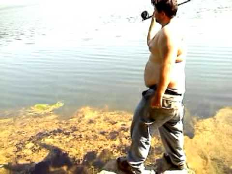 Fat man teaches fly fishing youtube for Fat guy fishing