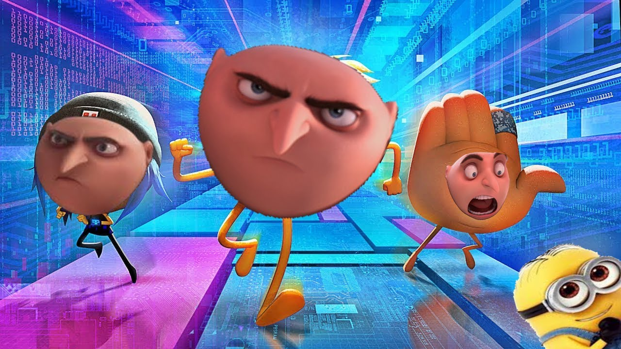 The Emoji Movie but every time it's cringy Gru threatens to stuff you all in the crust