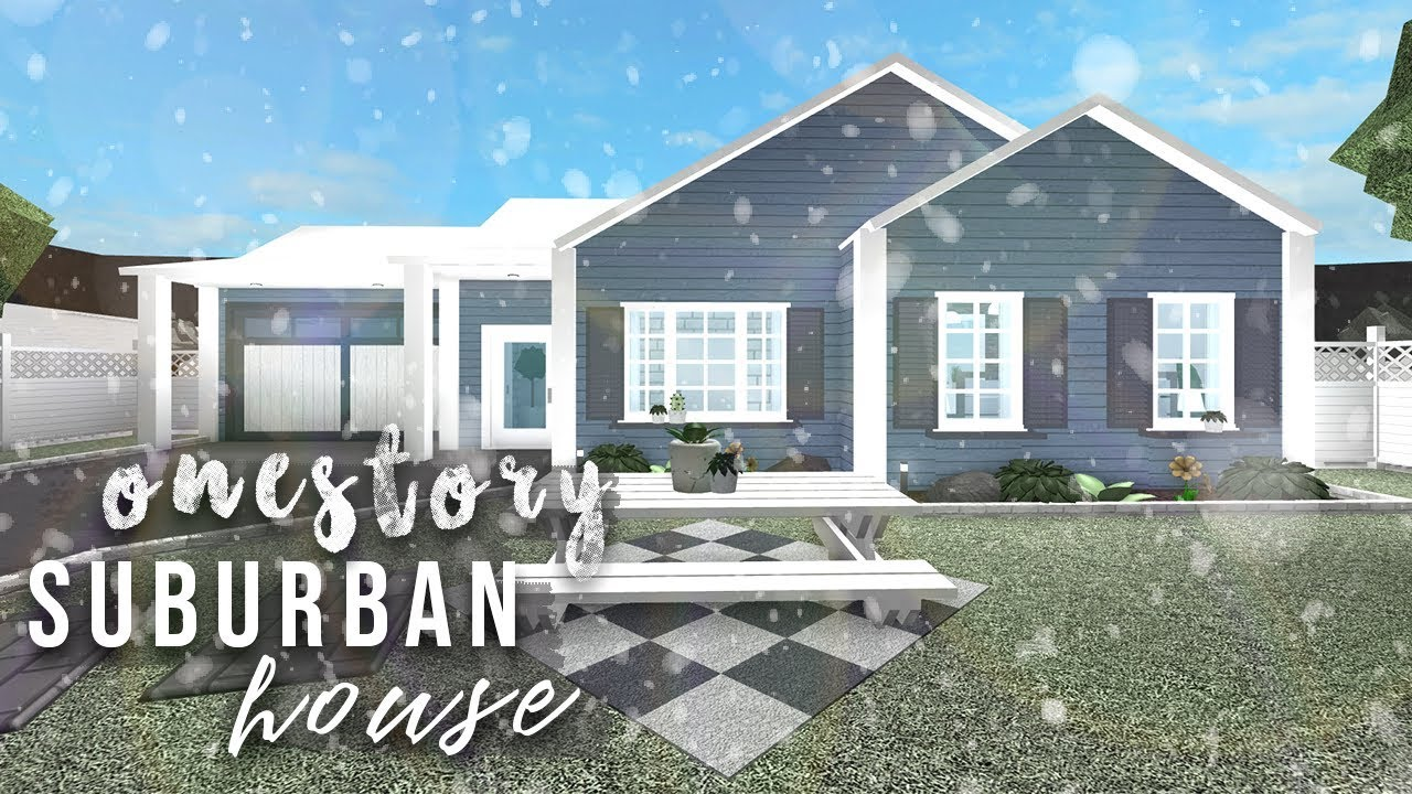 Pastel One Story Family Home Bloxburg Roblox Gamingwithv Roblox Bloxburg One Story Suburban House Speedbuild Youtube