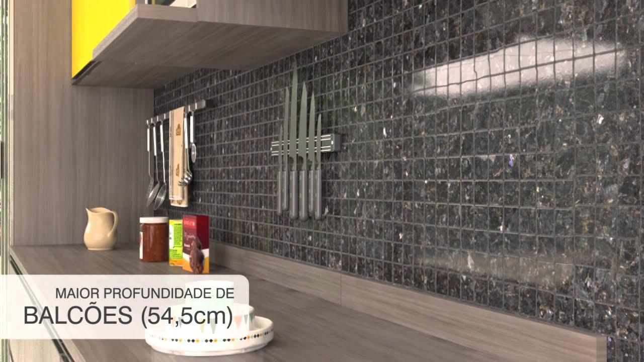 Armario De Cozinha Luciane Top Armrio Samia Cm Portas Com Vidro