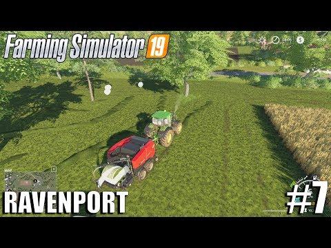 SILAGE BALES| Ravenport | Timelapse #7 | Farming Simulator 19