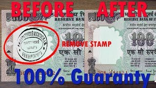How To Remove Stąmp Ink From Currency Notes
