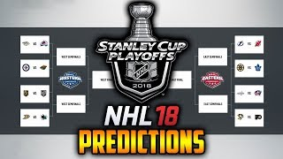 NHL 18 | Stanley Cup Playoffs 2018 Simulation | Who Will Win The Cup?