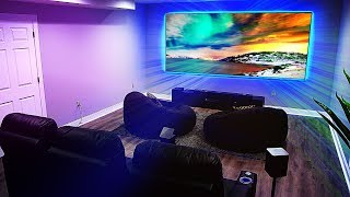 My NEW Home Theater Setup with a 4K Projector!
